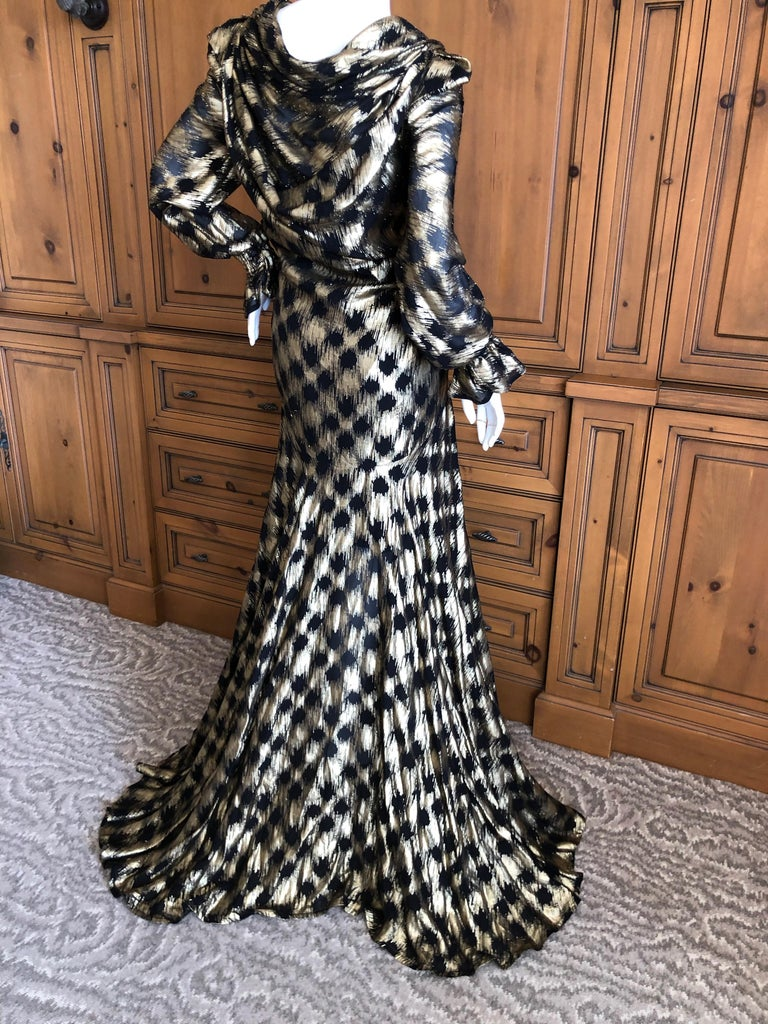 Vivienne Westwood 2015 Gold Label Evening Dress Size 8 US , UK 12  New with Tags  This is such a charming piece, the gold is much more pronounced than in the photos. Bust  38