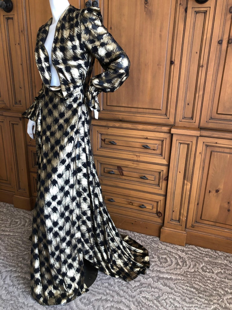 Women's Vivienne Westwood Gold Label Gold Houndstooth Evening Dress New with Tags For Sale