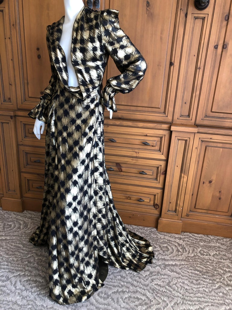 Vivienne Westwood Gold Label Gold Houndstooth Evening Dress New with Tags For Sale 1