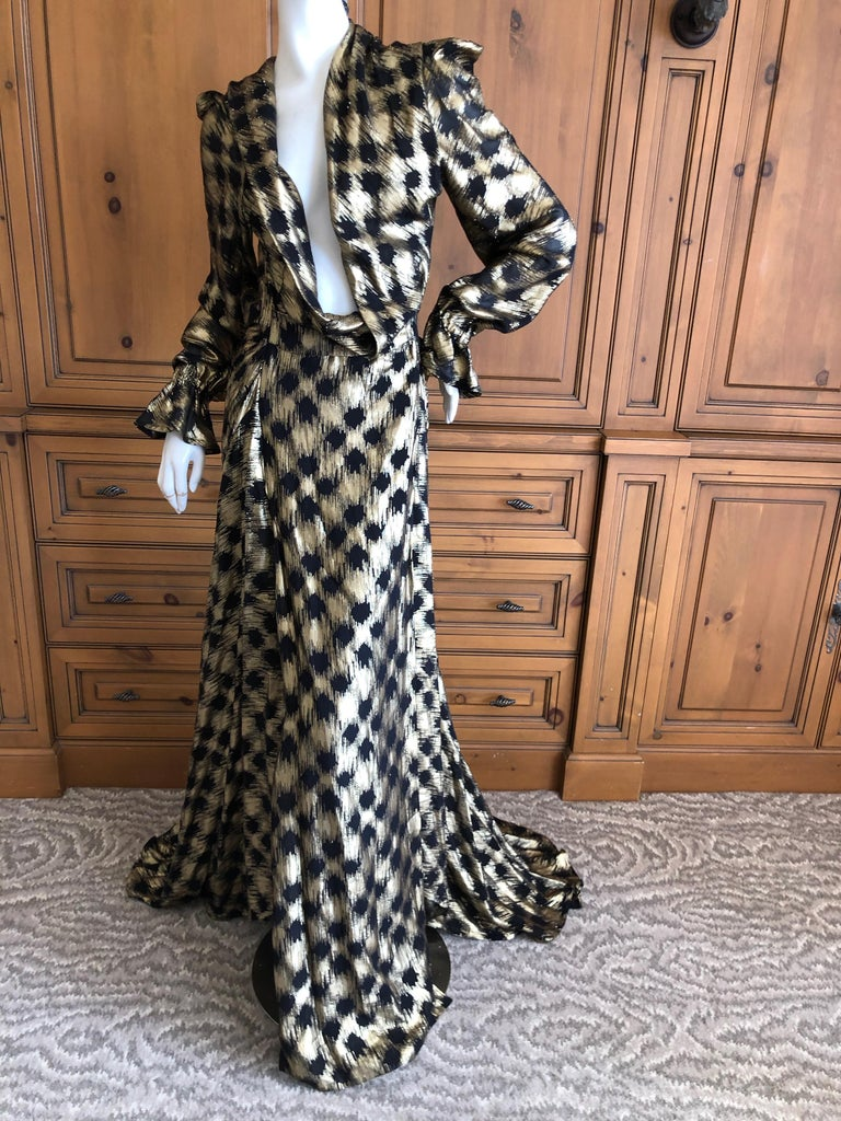 Vivienne Westwood Gold Label Gold Houndstooth Evening Dress New with Tags For Sale 2