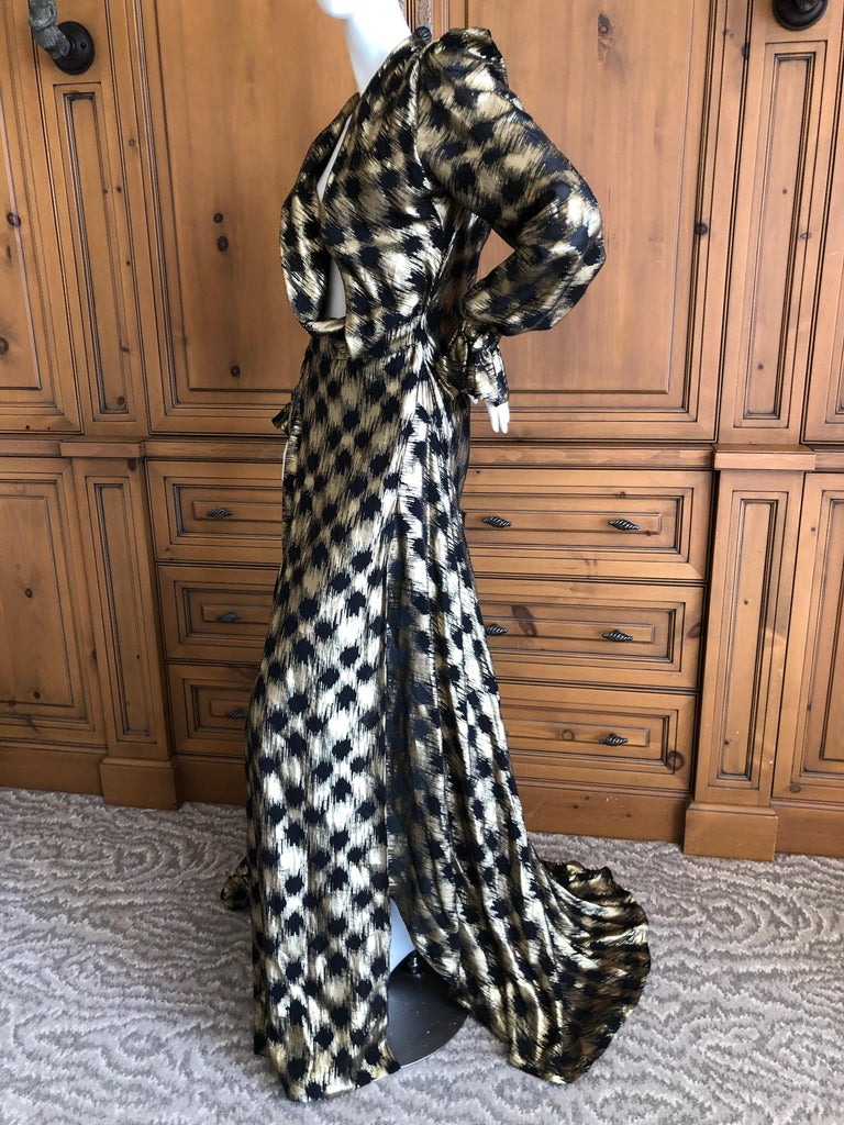 Vivienne Westwood Gold Label Gold Houndstooth Evening Dress New with Tags For Sale 3