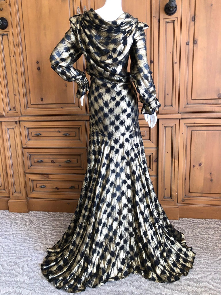 Vivienne Westwood Gold Label Gold Houndstooth Evening Dress New with Tags For Sale 4