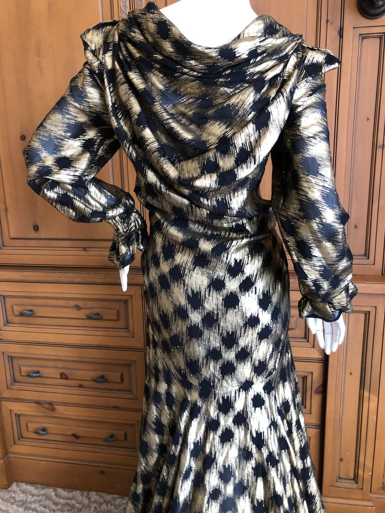 Vivienne Westwood Gold Label Gold Houndstooth Evening Dress New with Tags For Sale 5