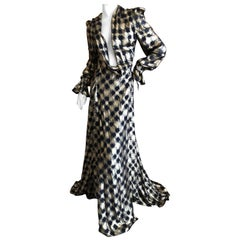 Vivienne Westwood Gold Label Gold Houndstooth Evening Dress New with Tags