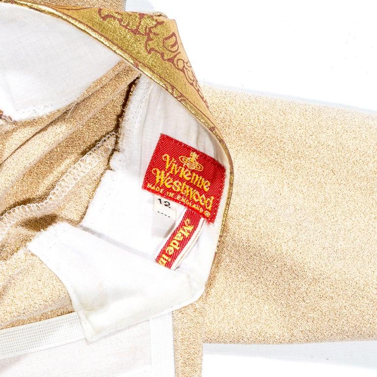 Vivienne Westwood gold lurex 'Portrait Collection' corset, fw 1990 5