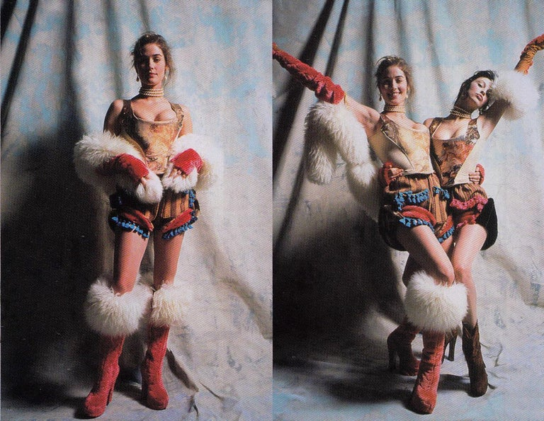 Vivienne Westwood gold lurex 'Portrait Collection' corset, fw 1990 1