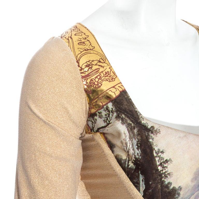 Vivienne Westwood gold lurex 'Portrait Collection' corset, fw 1990 2