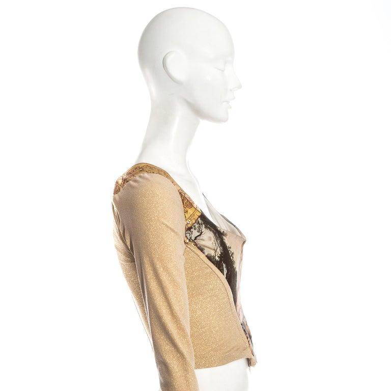 Vivienne Westwood gold lurex 'Portrait Collection' corset, fw 1990 3