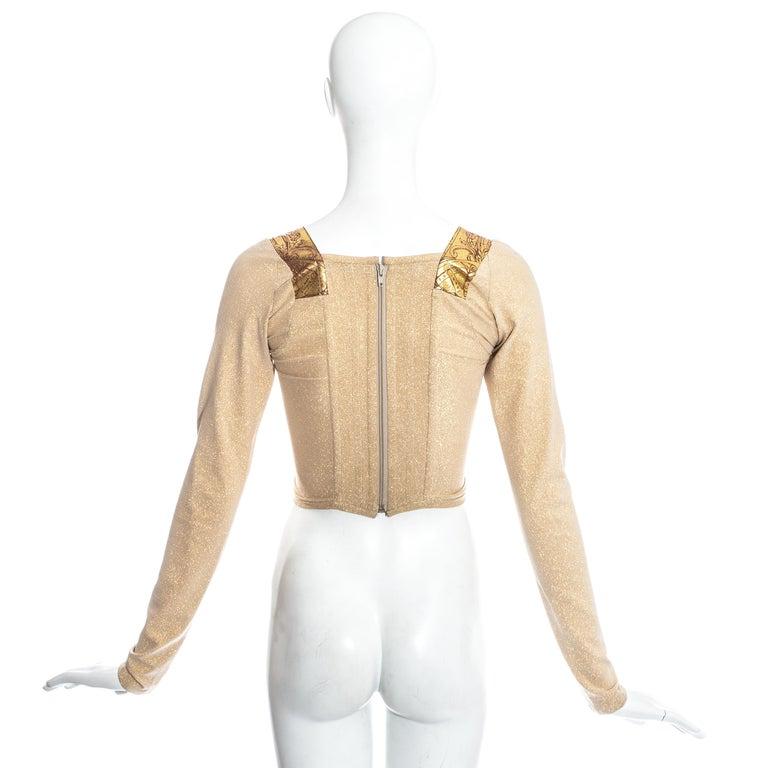 Vivienne Westwood gold lurex 'Portrait Collection' corset, fw 1990 4