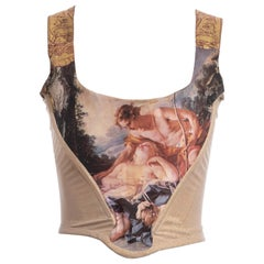 Vivienne Westwood gold lurex 'portrait collection' corset, fw 1990