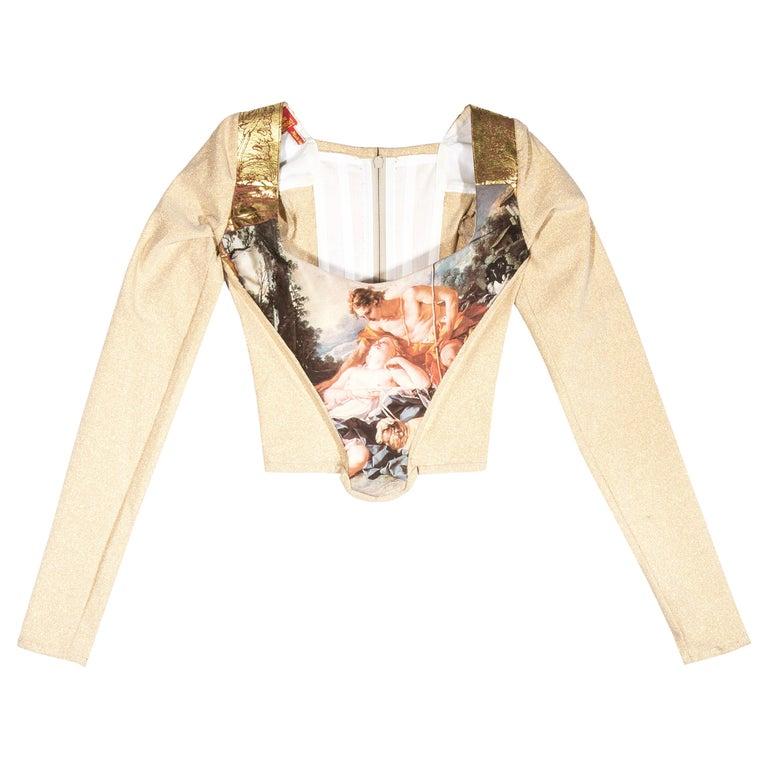 Vivienne Westwood gold lurex 'Portrait Collection' corset, fw 1990