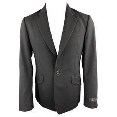 VIVIENNE WESTWOOD MAN James Size 40 Black Wool Notch Lapel Suit