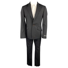 VIVIENNE WESTWOOD MAN James Size 40 Black Wool Notch Lapel Suit