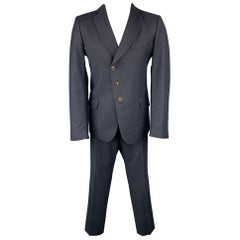 VIVIENNE WESTWOOD MAN Size 40 Navy Wool Notch Lapel Suit