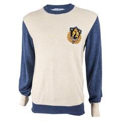 Vivienne Westwood Mens Blue & Cream Knit Jumper Sweater