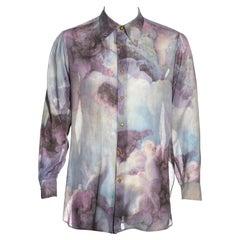Vivienne Westwood Men's Rococo cupid print cotton shirt, fw 1991