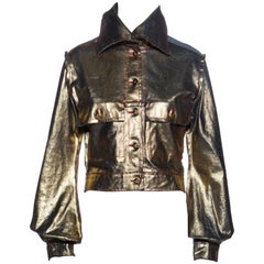 Vivienne Westwood metallic gold waxed denim jacket, ss 1993