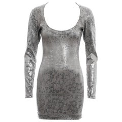 Vivienne Westwood metallic silver figure hugging mini dress, fw 1992