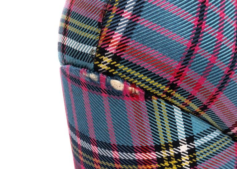 Vivienne Westwood multicoloured tartan wool lace-up platforms, fw 1993 For Sale 4