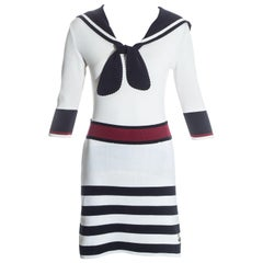 Vivienne Westwood nautical knitted skirt suit with sailors collar, ss 1996
