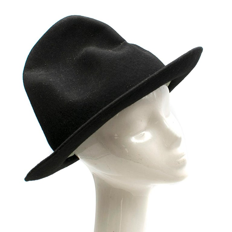 Vivienne Westwood Mountain hat  - Black, felt  - Asymmetric moulded crown  - Structured brim  - Padded brow band  - Unlined   Please note, these items are pre-owned and may show some signs of storage, even when unworn and unused. This is reflected
