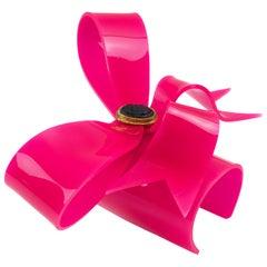 Vivienne Westwood Prototype Pink Bow Acrylic Cuff Bangle Bracelet