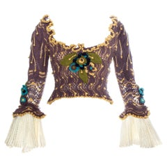 Vivienne Westwood purple crochet knitted 'On Liberty' corset, fw 1994