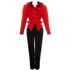 Vivienne Westwood red and black equestrian style pant suit, fw 1994