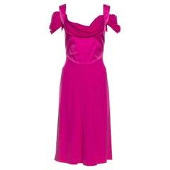 Vivienne Westwood Red Label Off the Shoulder Fuchsia Dress (40)