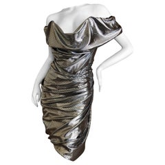"""Vivienne Westwood Red Label Silver Sequin """"Traffic"""" Cocktail Dress New w Tags L"""