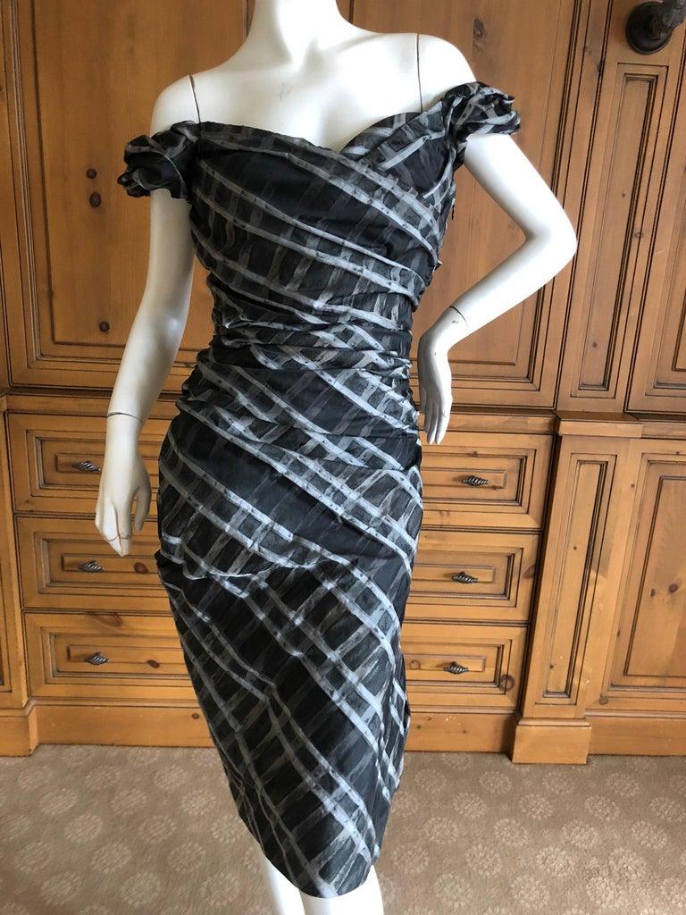 Pink Vivienne Westwood Red Label Taffeta Off the Shoulder Dress w Inner Corset  For Sale