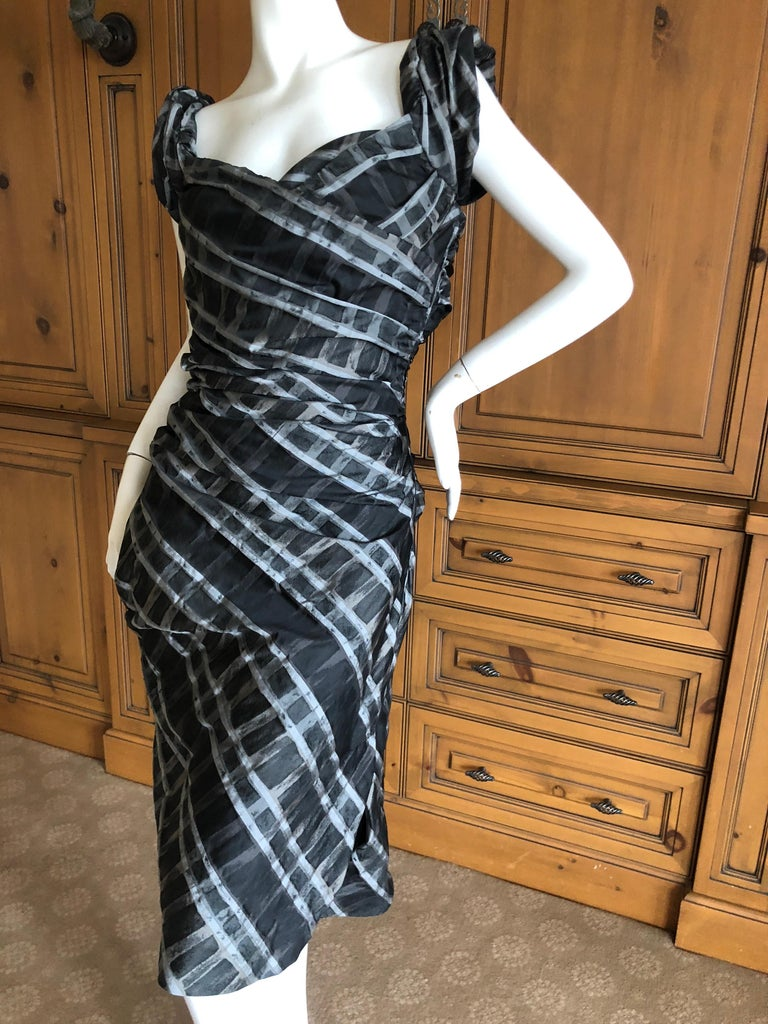 Women's or Men's Vivienne Westwood Red Label Taffeta Off the Shoulder Dress w Inner Corset  For Sale