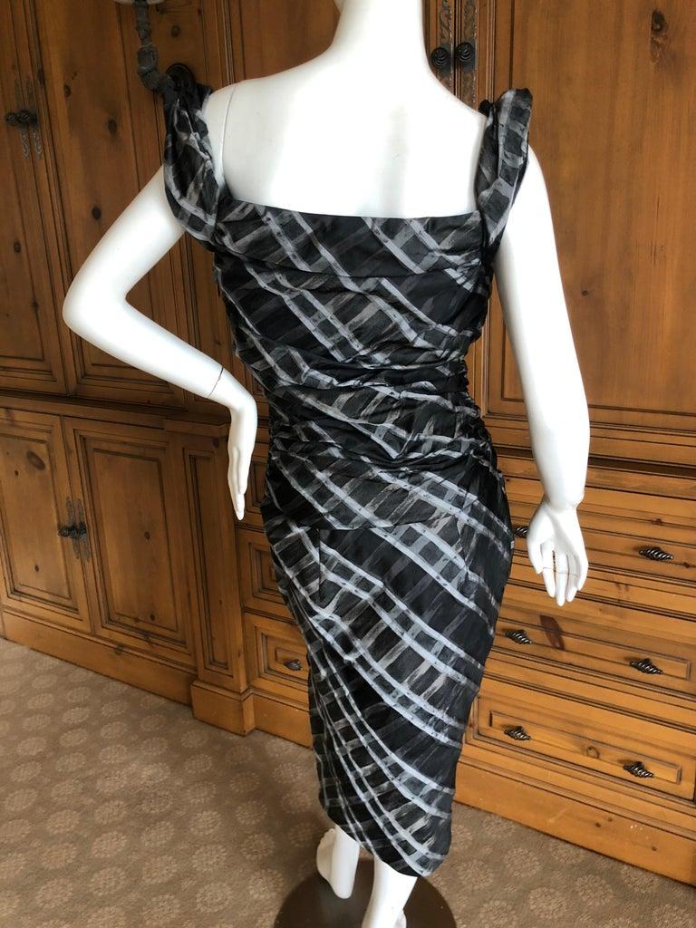 Vivienne Westwood Red Label Taffeta Off the Shoulder Dress w Inner Corset  For Sale 1