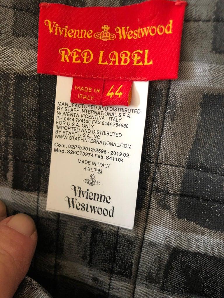 Vivienne Westwood Red Label Taffeta Off the Shoulder Dress w Inner Corset  For Sale 2