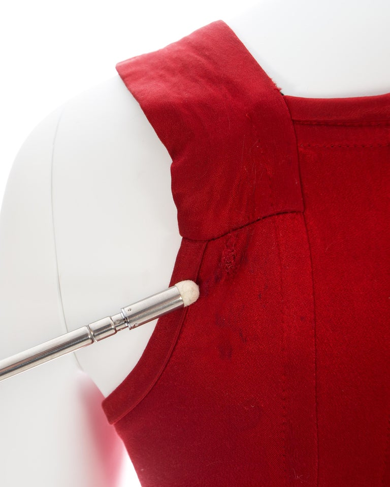 Vivienne Westwood red satin boned corset, ca. 1991 For Sale 2