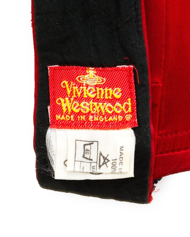 Vivienne Westwood red satin boned corset, ca. 1991 For Sale 3