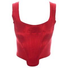 Vivienne Westwood red satin boned corset, ca. 1991