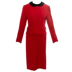 Vivienne Westwood red wool back-to-front skirt suit, fw 1991