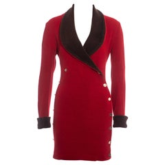 Vivienne Westwood red wool double-breasted blazer dress, fw 1989