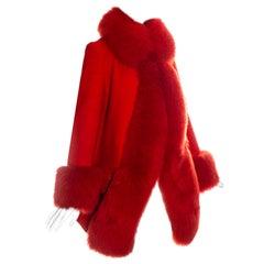 Vivienne Westwood red wool shearling coat, fw 1994