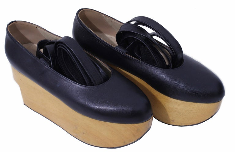 4e4f06c5e8be ... Shoes Black Leather Ballerina Platforms US6 UK5 For Sale. Custom made  in 2011