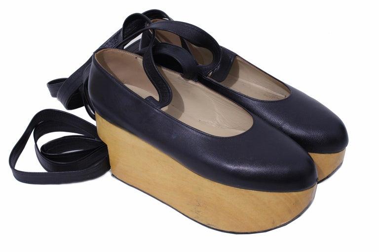 c55b74901816 Vivienne Westwood Rocking Horse Shoes Black Leather Ballerina ...