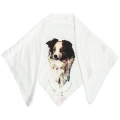 Vivienne Westwood silk dog print headscarf 'Always on Camera', fw 1992