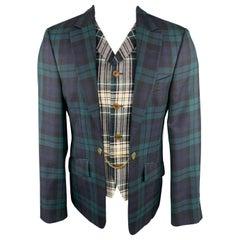VIVIENNE WESTWOOD Size 40 Plaid Blackwatch Wool Vest Layer Sport Coat