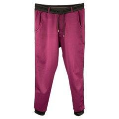 VIVIENNE WESTWOOD Size L Purple & Black Color Block Cotton / Polyester Pants