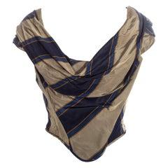 Vivienne Westwood striped silk taffeta off shoulder corset, ss 1998