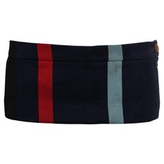 Vivienne Westwood striped wool Café Society 6 inch micro mini skirt, ss 1994