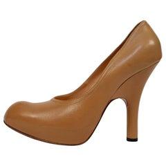 VIVIENNE WESTWOOD tan leather platform heels - 41