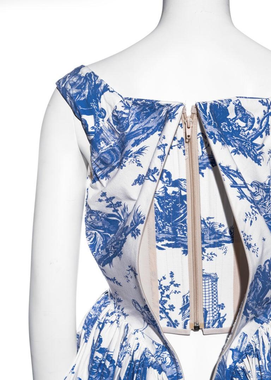 Vivienne Westwood Toile de Jouy printed cotton dress with pannier, ss 1996 For Sale 5