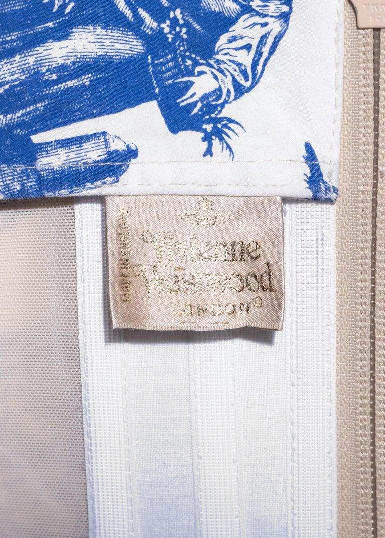 Vivienne Westwood Toile de Jouy printed cotton dress with pannier, ss 1996 For Sale 6